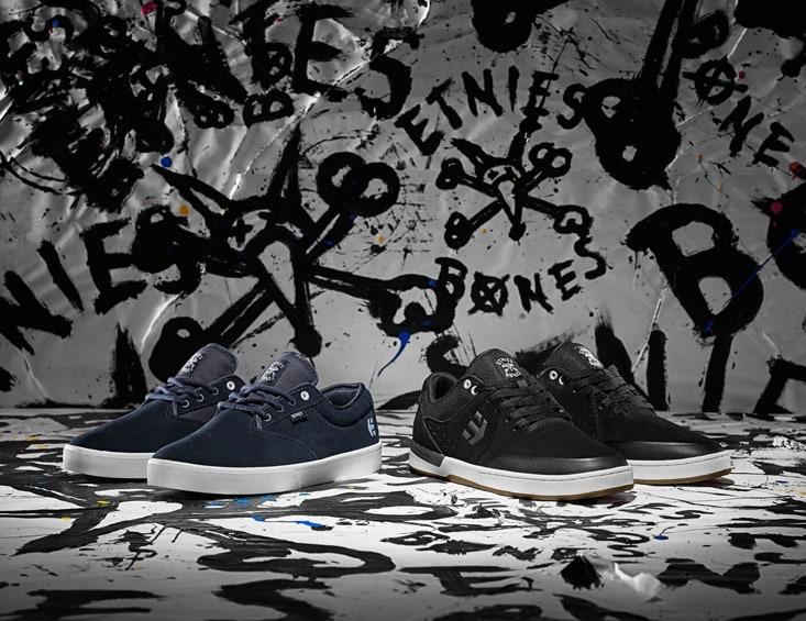 Etnies x Bones Jameson SL Skate Shoes - Navy & Etnies x Bones Marana XT Skate Shoes - Black.jpg