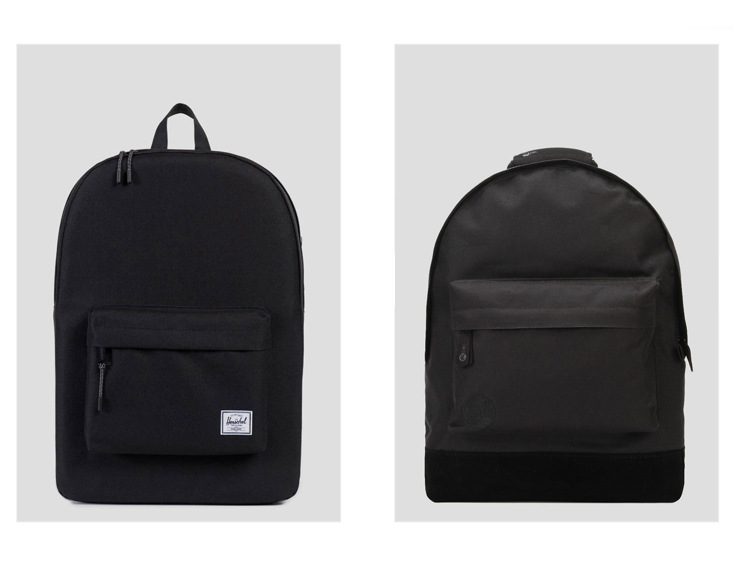Herschel Supply Co. Classic Backpack - Black & Mi-Pac Classic Backpack - All Black