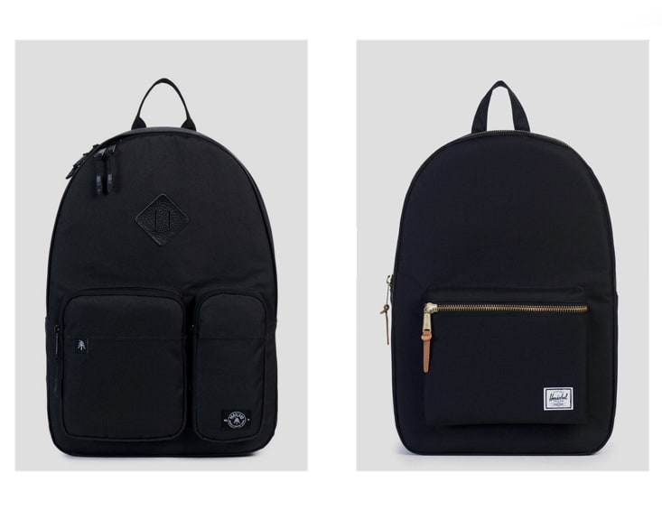 Parkland Academy Backpack - Black & Herschel Supply Co. Settlement Backpack - Black