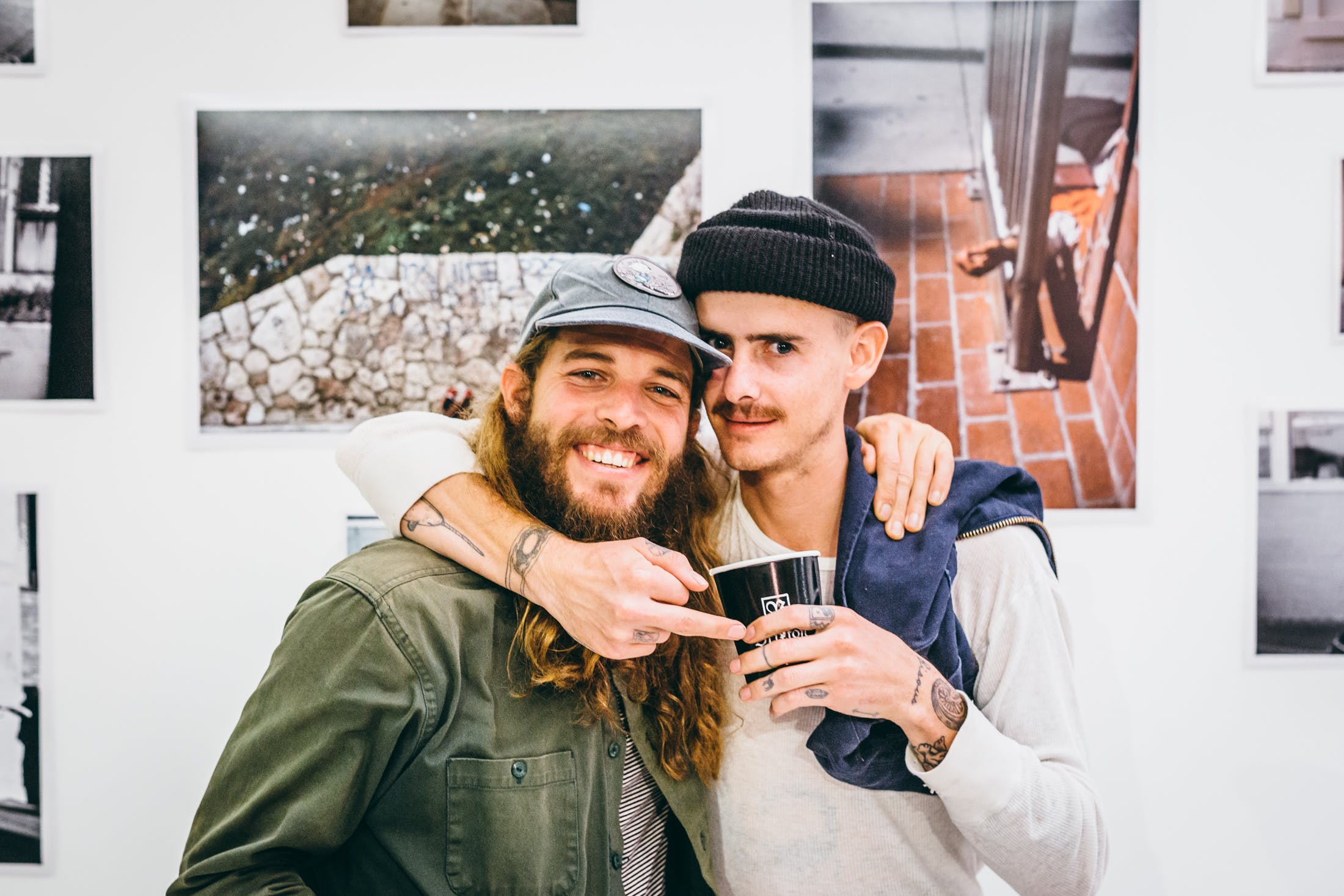 Dolan Sterns and Brian Delatore at their joint art show for Brixton Union