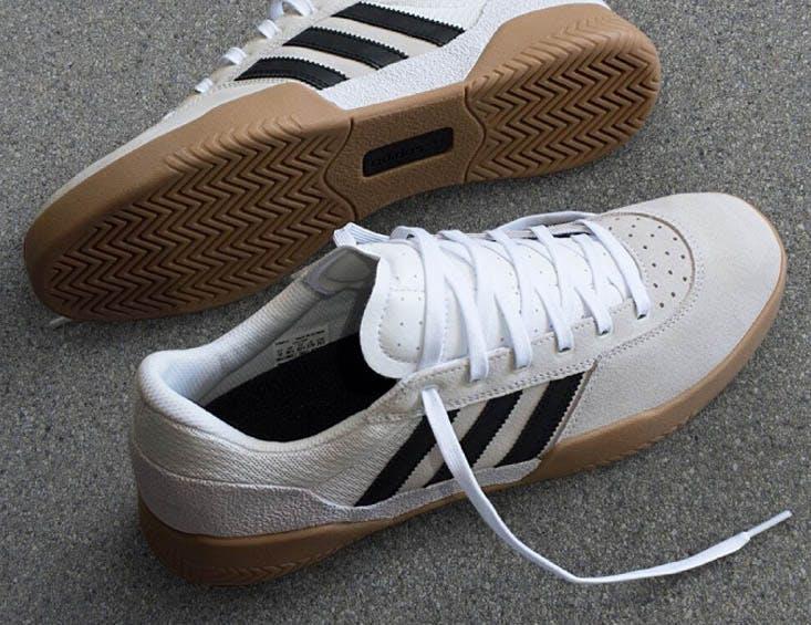 Adidas Skateboarding City Cup Skate Shoe - White/Gum