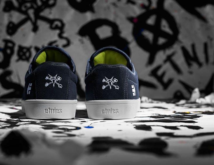 Etnies x Bones Jameson SL Skate Shoes - Navy 1.jpg