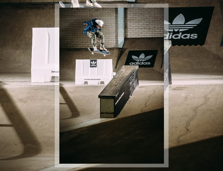Calvin skateboarding campus skatepark backside flip